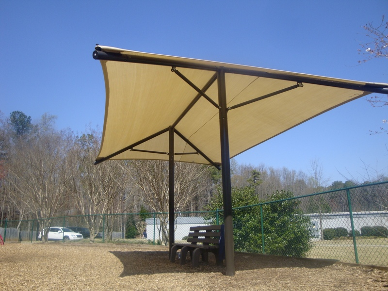 Dual Column Shade Structure