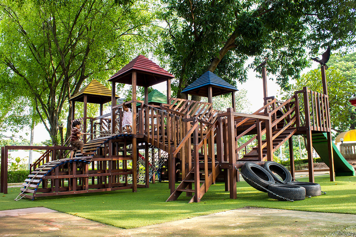 Two Sustainable Playground Surfaces